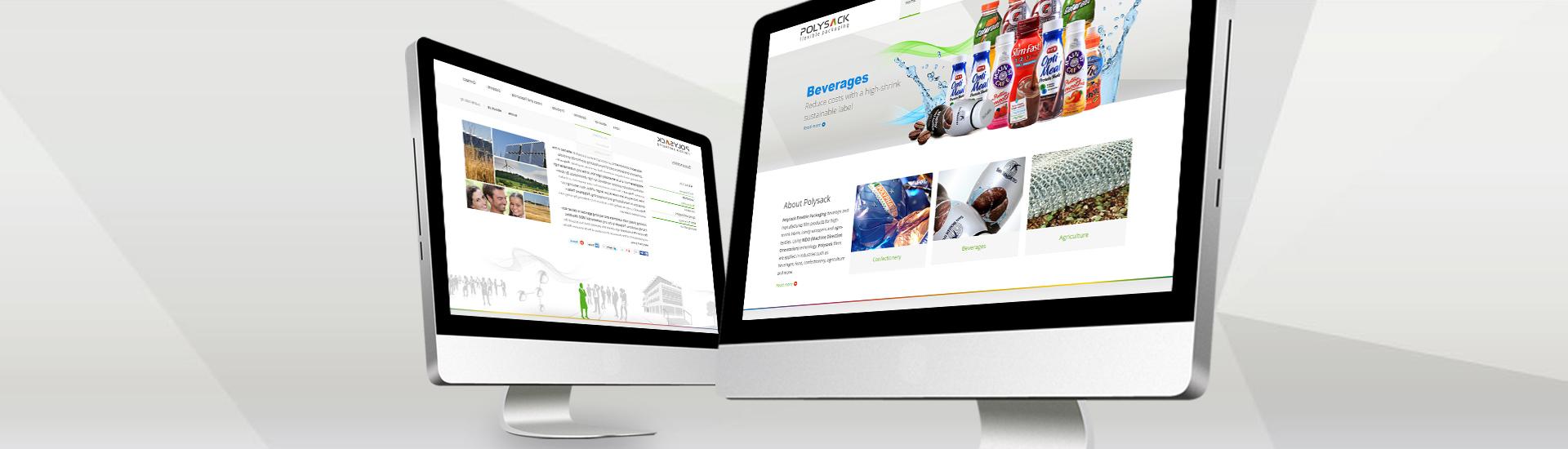 פוליסאק - תצוגת מחשב - פיתוח אתר
